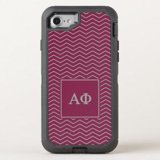 Alpha Phi | Chevron Pattern OtterBox Defender iPhone 8/7 Case