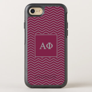 Alpha Phi | Chevron Pattern OtterBox Symmetry iPhone 8/7 Case
