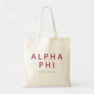 Alpha Phi   Est. 1872 2 Tote Bag
