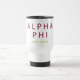 Alpha Phi | Est. 1872 2 Travel Mug