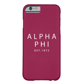 Alpha Phi | Est. 1872 Barely There iPhone 6 Case