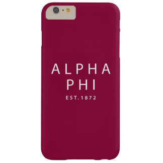 Alpha Phi | Est. 1872 Barely There iPhone 6 Plus Case