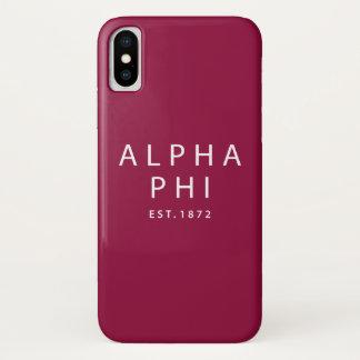 Alpha Phi | Est. 1872 iPhone X Case