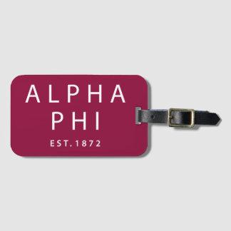 Alpha Phi | Est. 1872 Luggage Tag