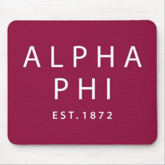 Alpha Phi   Est. 1872 Mouse Mat