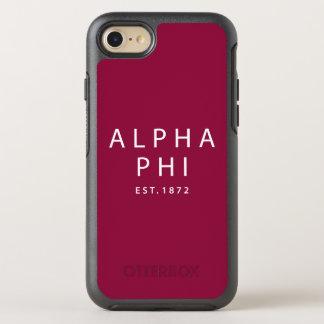 Alpha Phi | Est. 1872 OtterBox Symmetry iPhone 8/7 Case