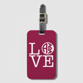 Alpha Phi | Love Luggage Tag