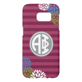 Alpha Phi | Monogram Stripe Pattern