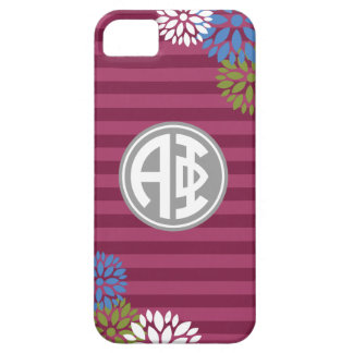 Alpha Phi | Monogram Stripe Pattern Barely There iPhone 5 Case