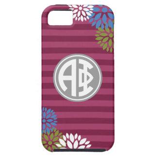 Alpha Phi   Monogram Stripe Pattern iPhone 5 Case