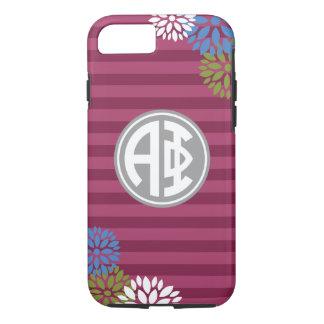 Alpha Phi | Monogram Stripe Pattern iPhone 8/7 Case