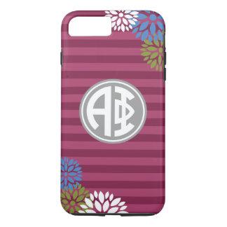 Alpha Phi | Monogram Stripe Pattern iPhone 8 Plus/7 Plus Case