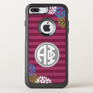 Alpha Phi | Monogram Stripe Pattern OtterBox Commuter iPhone 7 Plus Case