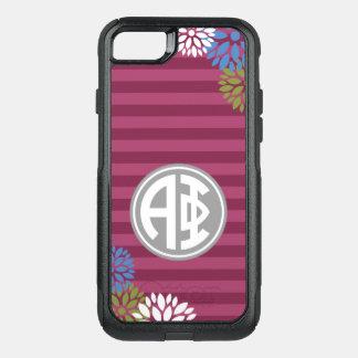 Alpha Phi | Monogram Stripe Pattern OtterBox Commuter iPhone 8/7 Case