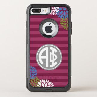 Alpha Phi | Monogram Stripe Pattern OtterBox Commuter iPhone 8 Plus/7 Plus Case