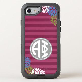 Alpha Phi | Monogram Stripe Pattern OtterBox Defender iPhone 8/7 Case