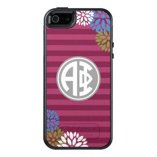 Alpha Phi | Monogram Stripe Pattern OtterBox iPhone 5/5s/SE Case