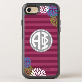 Alpha Phi | Monogram Stripe Pattern OtterBox Symmetry iPhone 7 Case