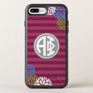 Alpha Phi | Monogram Stripe Pattern OtterBox Symmetry iPhone 7 Plus Case