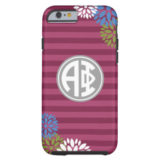 Alpha Phi | Monogram Stripe Pattern Tough iPhone 6 Case