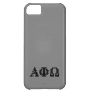 Alpha Phi Omega Black Letters iPhone 5C Cases