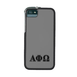 Alpha Phi Omega Black Letters iPhone 5 Cases