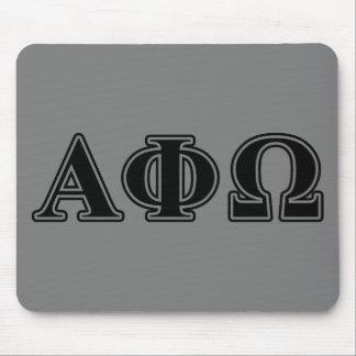 Alpha Phi Omega Black Letters Mouse Mat