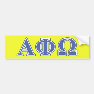 Alpha Phi Omega Blue Letters Bumper Sticker
