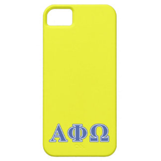 Alpha Phi Omega Blue Letters iPhone 5 Cover