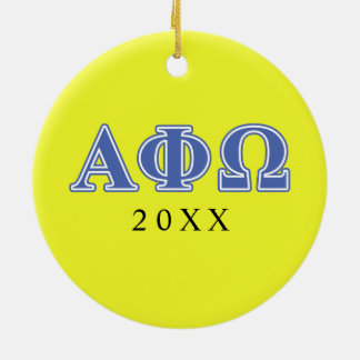 Alpha Phi Omega Blue Letters Christmas Ornament