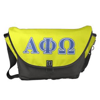 Alpha Phi Omega Blue Letters Courier Bag