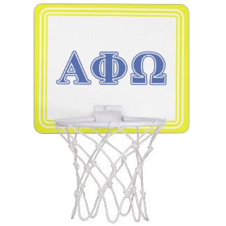 Alpha Phi Omega Blue Letters Mini Basketball Hoop