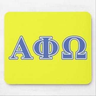 Alpha Phi Omega Blue Letters Mouse Mat