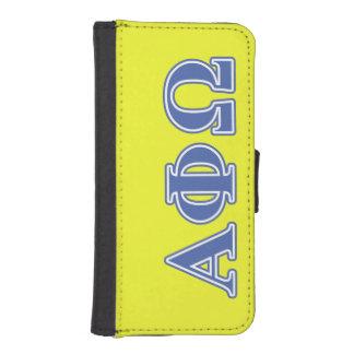 Alpha Phi Omega Blue Letters Phone Wallets