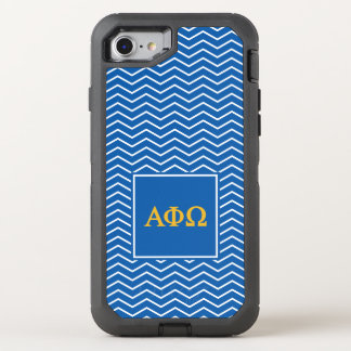 Alpha Phi Omega | Chevron Pattern OtterBox Defender iPhone 8/7 Case