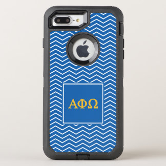 Alpha Phi Omega | Chevron Pattern OtterBox Defender iPhone 8 Plus/7 Plus Case