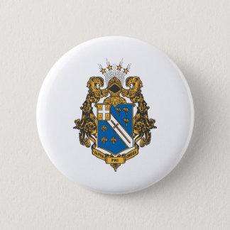 Alpha Phi Omega Color - Crest 6 Cm Round Badge