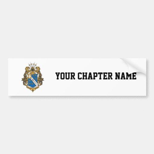 Alpha Phi Omega Color - Crest Bumper Sticker