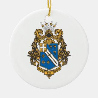 Alpha Phi Omega Color - Crest Christmas Ornament
