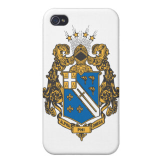 Alpha Phi Omega Color - Crest iPhone 4/4S Case