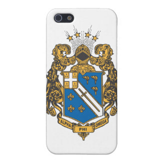 Alpha Phi Omega Color - Crest iPhone 5/5S Cases