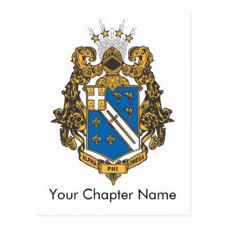 Alpha Phi Omega Color - Crest Postcard