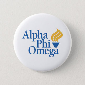 Alpha Phi Omega Color - Torch 6 Cm Round Badge