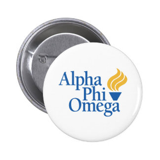 Alpha Phi Omega Color - Torch 6 Cm Round Badge