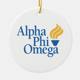 Alpha Phi Omega Color - Torch Christmas Ornament
