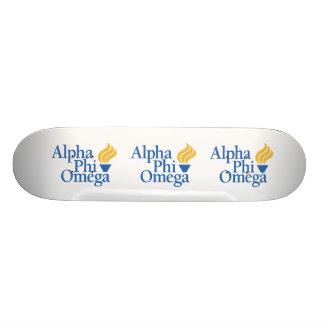 Alpha Phi Omega Color - Torch Custom Skate Board