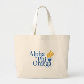Alpha Phi Omega Color - Torch Jumbo Tote Bag