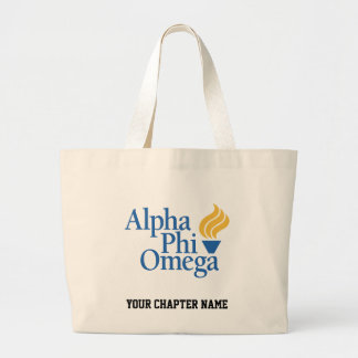 Alpha Phi Omega Color - Torch Large Tote Bag