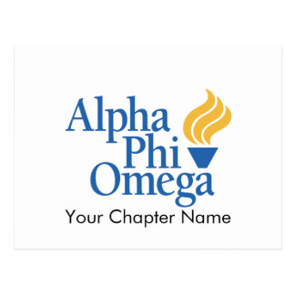 Alpha Phi Omega Color - Torch Postcard