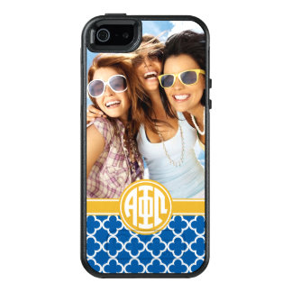 Alpha Phi Omega | Custom Monogram Pattern OtterBox iPhone 5/5s/SE Case